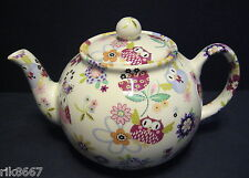 Heron Cross Pottery Owl Chintz 6-8 Cup English Tea Pot