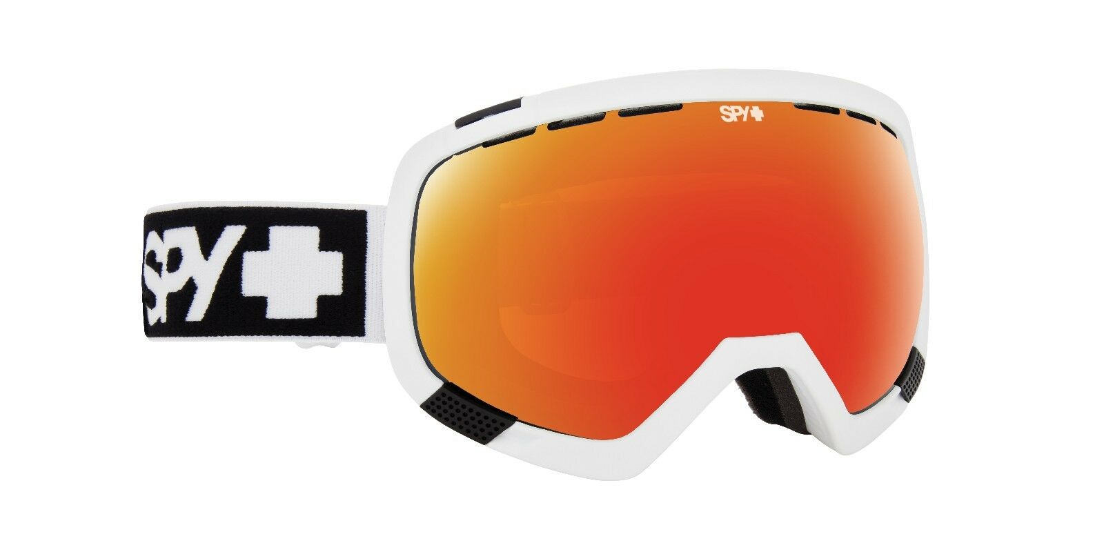 Spy PLATOON Matte White w  Red Spectra  Snow Goggles - Free Express. Post