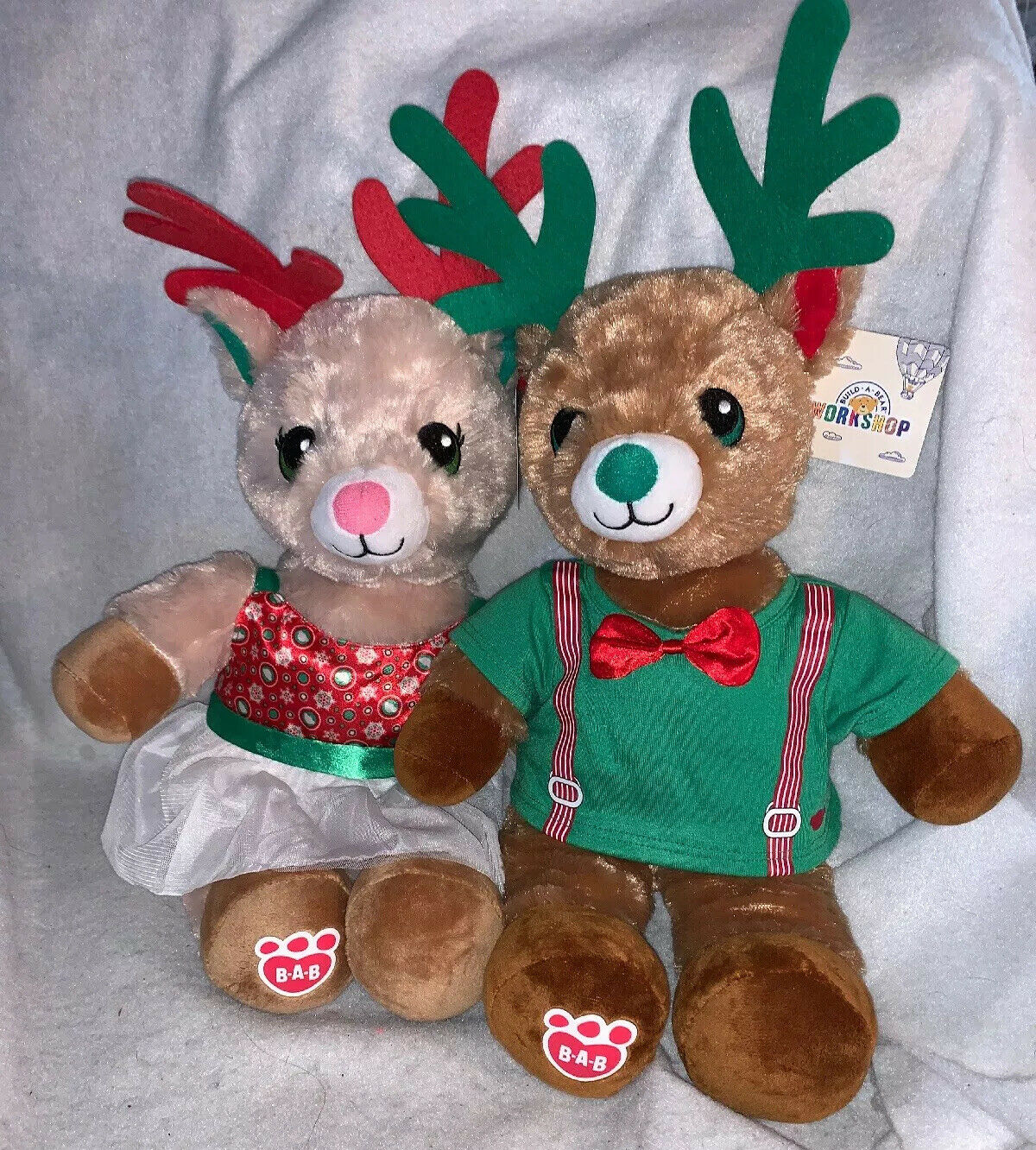 Build A Bear Online Exclusive Jolly Reindeer With Outfits 2019 NWT