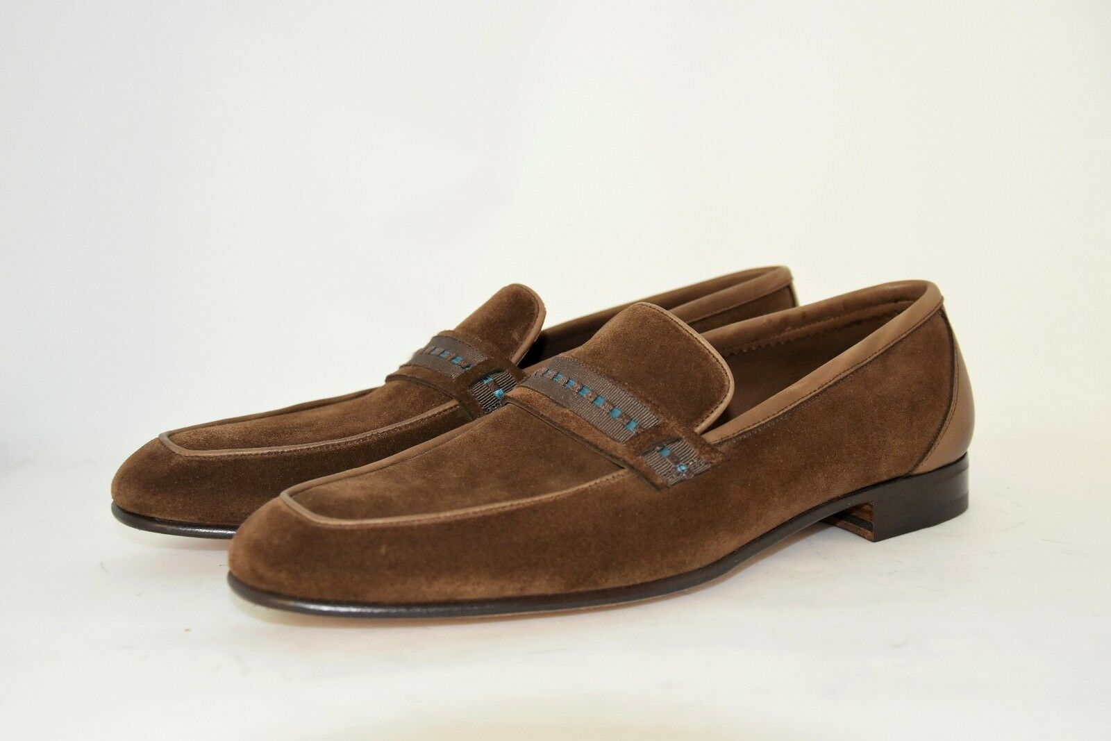 MAN-8eu-9usa-PENNY LOAFER-BROWN SUEDE-MOCASSINO-CAMOSCIO TDM-LEATHER SOLE