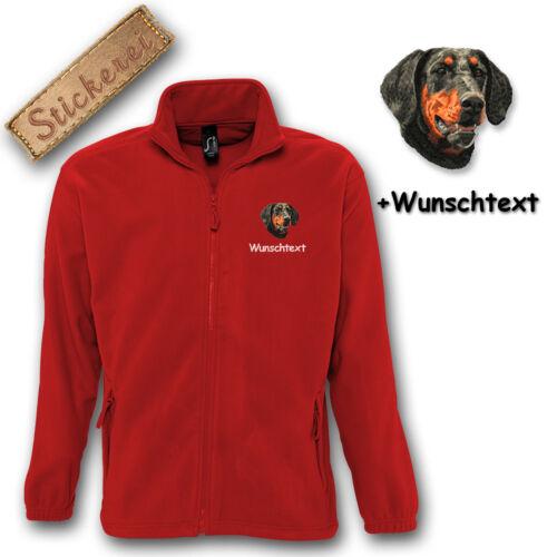 lana perro individual M2 texto bordado de Chaqueta personalizado bordado Dobermann BqCxSWwH