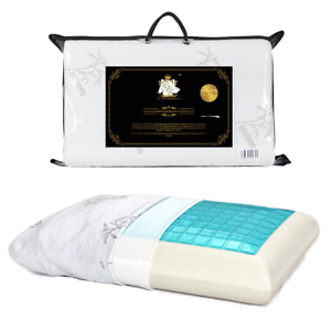 Gel-Memory-Foam-Pillow-Cool-with-Zipped-Washable-Breathable-Bamboo-Duck-amp-Goose