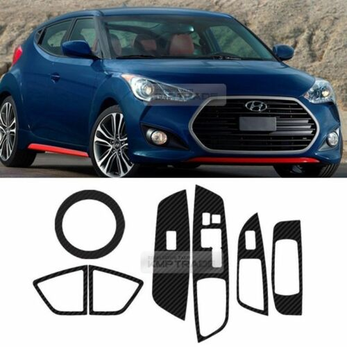 Carbon Gear Air Vent Window Switch Decal Sticker for HYUNDAI 2011-2017 Veloster