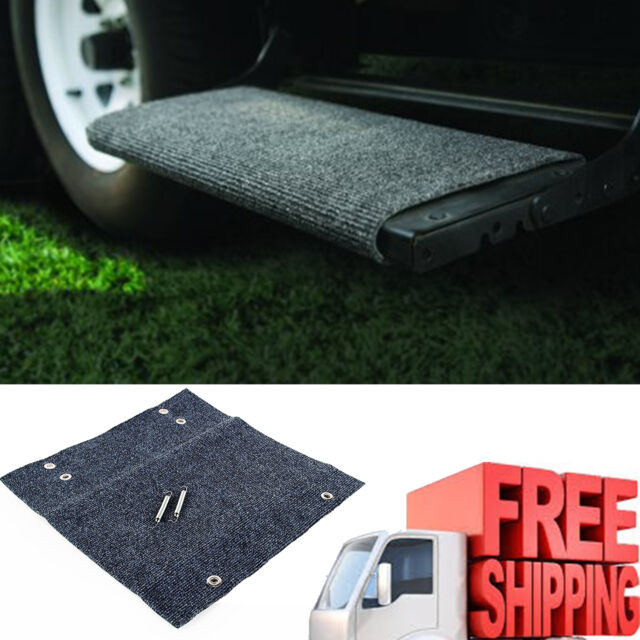 Rv Step Rug Camco Gray Wrap Around 18 Trailer Camper Parts Stair Cover New