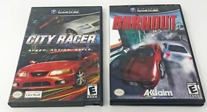 City-Racer-Nintendo-GameCube-2003-Booklet-Game-Case-Tested-Works-Burnout