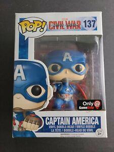 Funko-Pop-Captain-America-Vinyl-Figure-137-Marvel-Civil-War-Gamestop-Exclusive