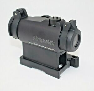 Aimpoint T2 Red Dot Sight QR RISER MOUNT Airsoft Nero Nuovo