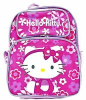 Sanrio Hello Kitty 12 Canvas Pink & Purple School Backpack