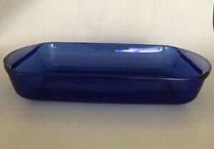 Anchor-Hocking-2-Qt-Cobalt-Blue-Glass-8-034-x-11-Casserole-Baking-Dish-Ovenware
