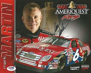 Mark Martin Signed 2006 Ameriquest Photocard - PSA/DNA # Y09316