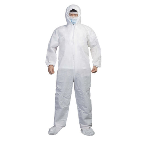 New Washable Disposable Safety Hoodie Coverall Suit Hazmat Anti-Virus Protection