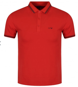 24002e1253541f Armani Jeans Red Eagle Polo Top Small (S) Brand New With Tags RRP ...