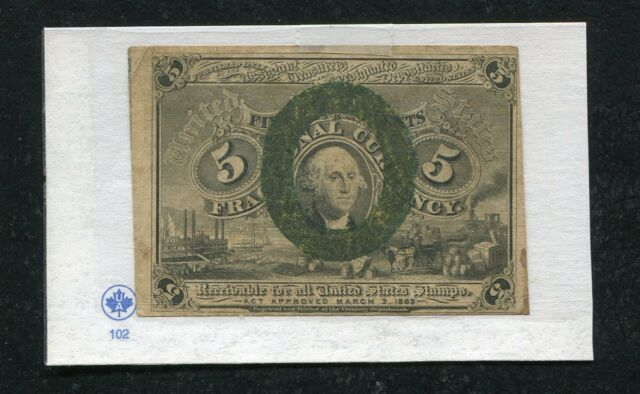 5 FIVE CENTS SECOND ISSUE FRACTIONAL CURRENCY NOTE