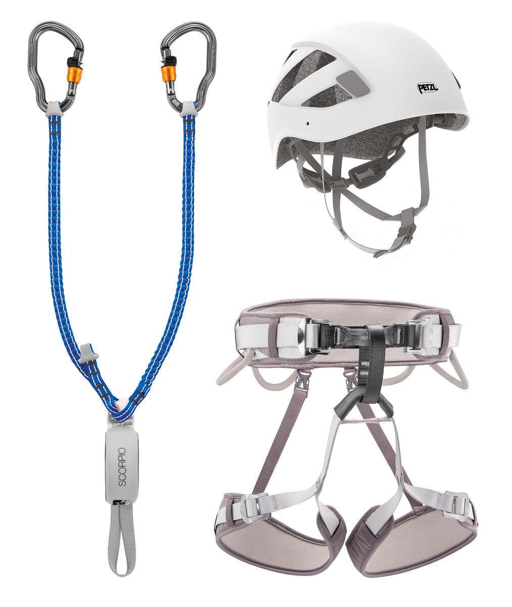 Harness harness Helmet Lanyard PETZL KIT VIA  FERRATA greenIGO CORAX  incredible discounts