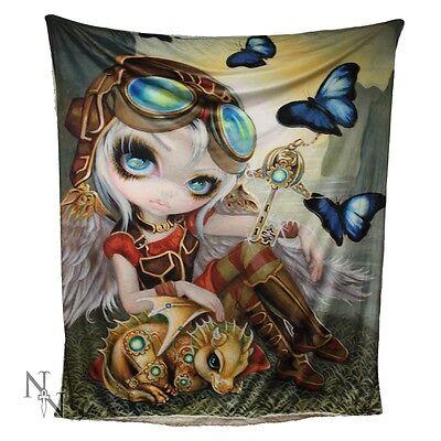 Gorgeous Jasmine Becket-Griffith Soft Throw/Blanket - Clockwork Dragonling-160cm