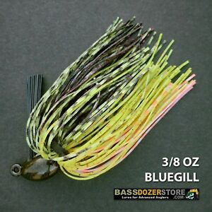 Bassdozer-PUNCH-039-N-FLIP-jig-3-8-oz-BLUEGILL-weedless-bass-jigs-lures