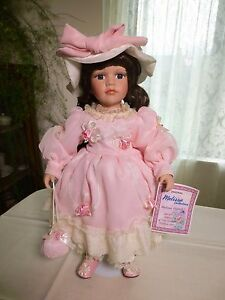 """""""Melissa Collection"""" Porcelain Doll Hand-painted Special Edition Collectable"""