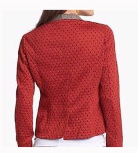 Medium Orange Womens Anthropologie People Size In Diamond Free Blazer Quilted wB6ZqpRA