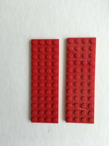 LEGO X 2 RED 4 x 12 THIN  BASE PLATE  3029 VGC