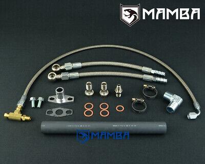 "DIY Turbo Water Line Kit 6AN 3//8/"" Hose 90Deg-1//2/"" Barb 25cm EFR 8374 9174 9180"