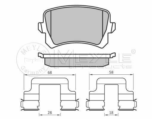 025 244 8317 MEYLE Brake pad set fit WVA