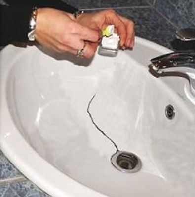 ENAMEL CHIP REPAIR KIT WHITE Touch in Paint Ceramic Acrylic Bath Sink