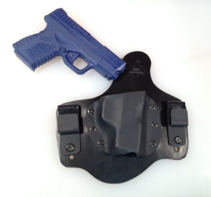 Leder Lined Kydex holster for Springfield Armory XDS RH DRAW IWB MTO HOLSTER