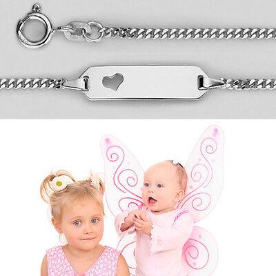 Baby Taufe Armband Mit Gestanztem Herz Inkl Gravur Von Name Und Datum Silber 925