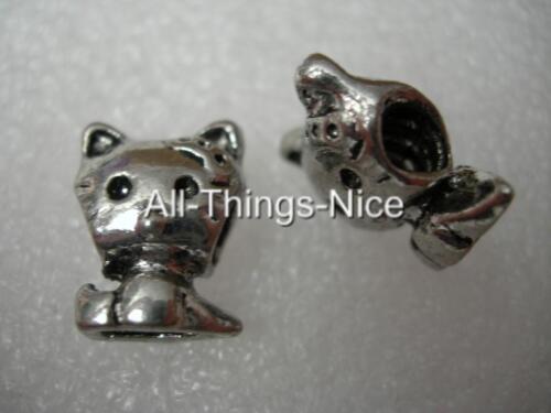 HELLO KITTY CAT 4mm Screw LOCK European Spacer Charm Bead Jewellery Findings 2