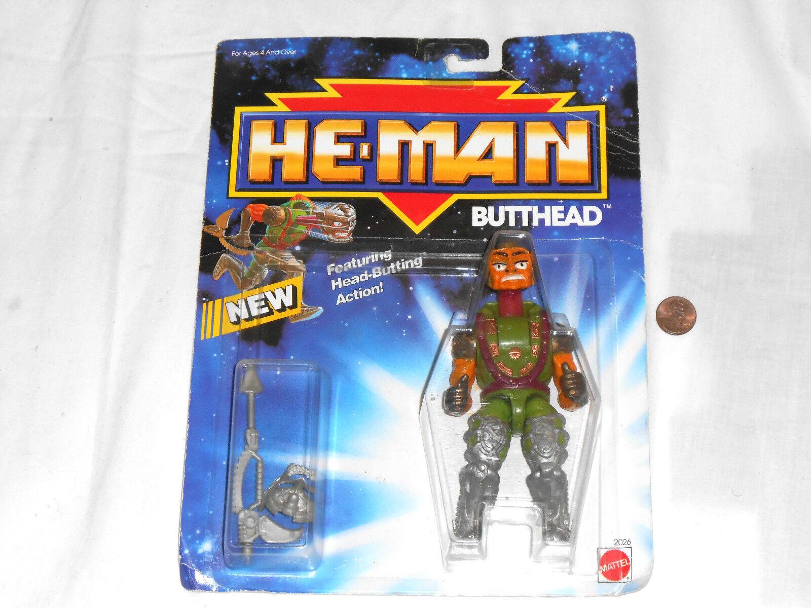 NEW He-Man BUTTHEAD Original 1990 Action Figure Butt Head HeMan Toy Mattel motu