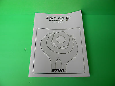 STIHL CHAINSAW 010 011 SPARE PARTS LIST    ----  MANUAL 118B