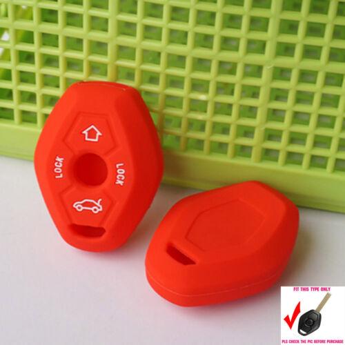 Red Silicone key cover case for BMW X3 X5 Z3 Z4 3 5 7 Series E38 E39 E46 E83