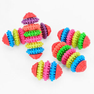 Rubber-Pet-Dog-Toy-Puppy-Dental-Teething-Healthy-Teeth-Gum-Chew-Tool-Squeaky-Cat