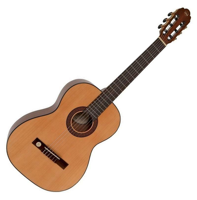 Schöne 7/8 Konzertgitarre für Kids in traditioneller Bauweise & frisches Design
