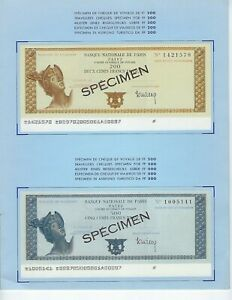 TRAVELERS-CHECK-SPECIMEN-FRANCE-2-SETS-IN-BANK-FOLDERS-1968-AND-1979-UNC