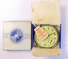 WWII 1940's NEW HAVEN MODEL B Pocket Watch new in box O.P.A. tag and paperwork *