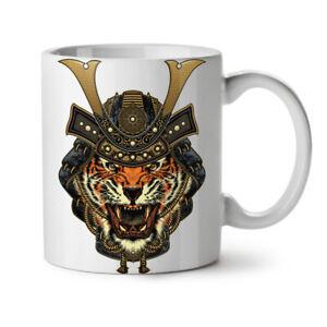 Warrior Tiger Cool Animal NEW White Tea Coffee Mug 11 oz | Wellcoda