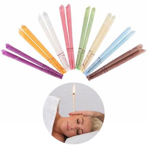 2Pcs velas hueco mezcla conos Cera de Abejas Cera Del Oído Oreja Limpieza Masaje Tratamiento
