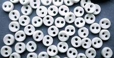 Twenty Sew Through Buttons 3mm Snowdrop White, Dolls House Miniatures