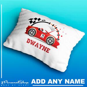 Personalised-Racing-Car-Pillowcase-Children-Printed-Gift-Custom-Print-Made
