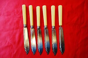 Vintage-Stainless-Nickel-Silver-set-of-6-Ornate-Fish-Knives-Made-in-England