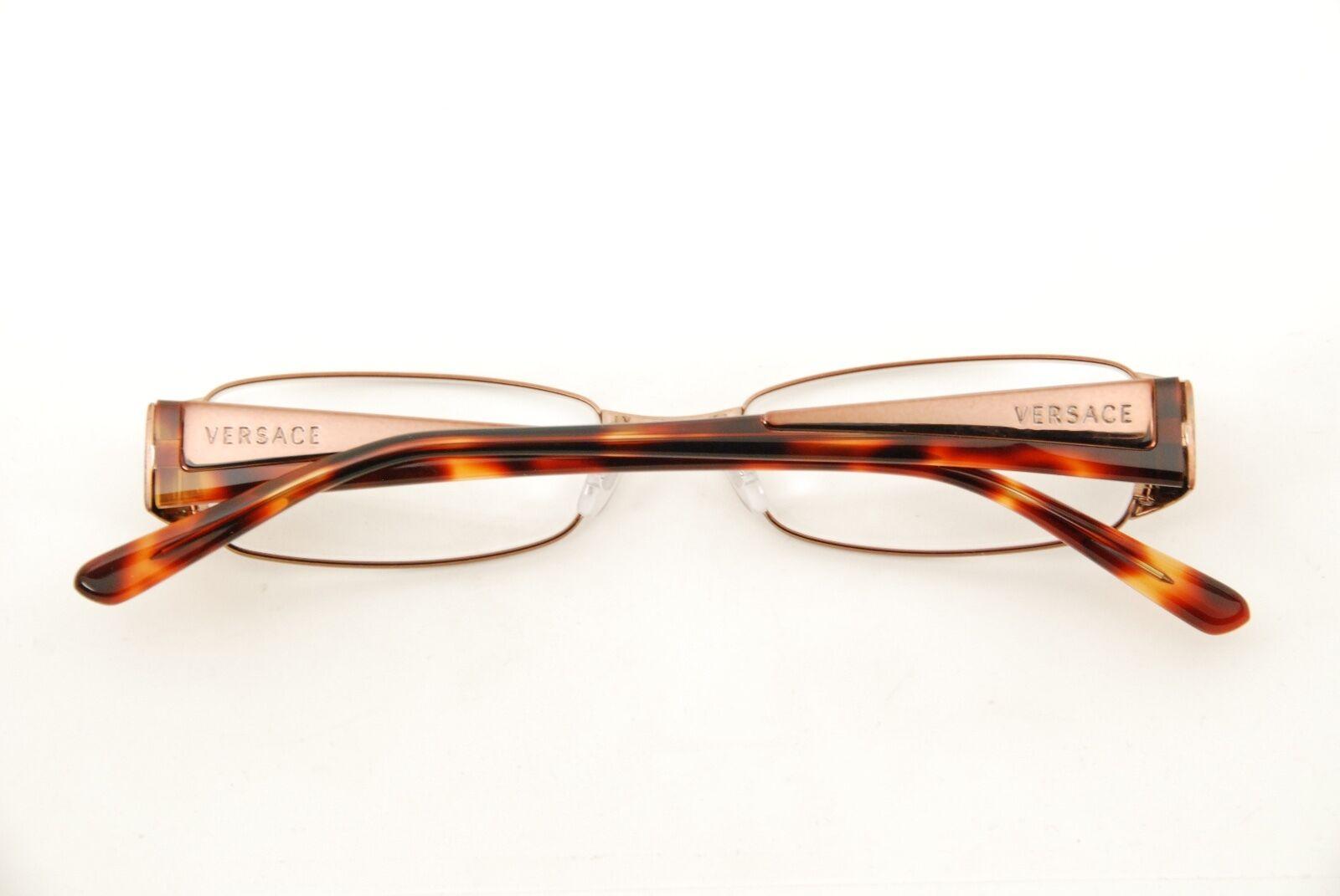 eed0f5c06e06 Authentic Versace Mod 1084 1045 Bronze havana 50mm Eyeglasses RX Italy for  sale online