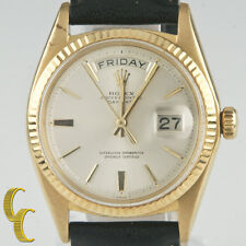 1960's Rolex President Oyster Perpetual Day-Date 18K Gold w/ Leather Band #1803