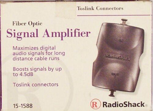 Toslink Fiber Optic Audio Signal Amplifier ~ RadioShack 15-1588