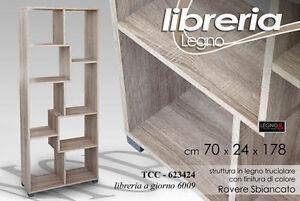 Libreria-Legno-Colore-Rovere-Cm-70x24x178h-Arredo-Design-8-Scomparti-TCC-623424