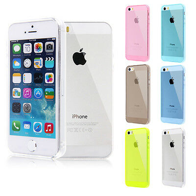 Soft Silicone TPU Clear Transparent Back Case Cover Skin For Apple iPhone 5G 5S