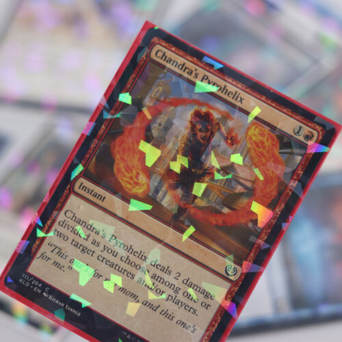 Professional Hologram Card Sleeves Precise Fit for MTG Pokemon 100 pack Red