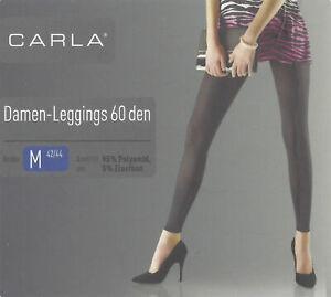Damen Leggings 60 den Leggins schwarz Stretch S M L Öko-Tex Standard