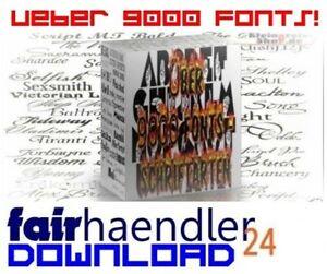UBER-9000-TRUE-TYPE-FONTS-Schriftarten-PC-SCHRIFTEN-Flyer-WERBUNG-Anleitung-NEU