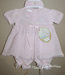 fd6d0ac8b890 Dresses NWT Will'beth Pink Knit Lace Dress 3pc Preemie Newborn Headband Baby  Girls